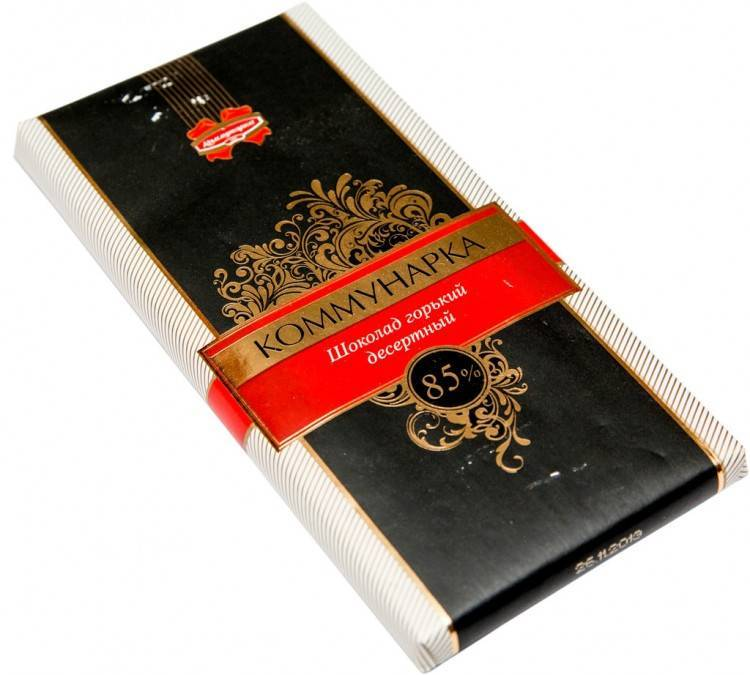 """Горький десертный шоколад 85% с одноименным названием """"Коммунарка"""""""